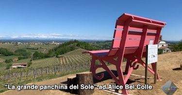 La grande panchina a Alice Bel Colle