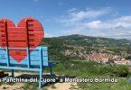 La Grande panchina a forma di cuore a Monastero Bormida
