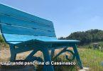 La grande panchina a Cassinasco