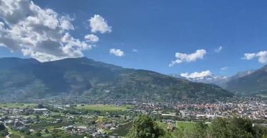 Valle d'Aosta vista dall'alto